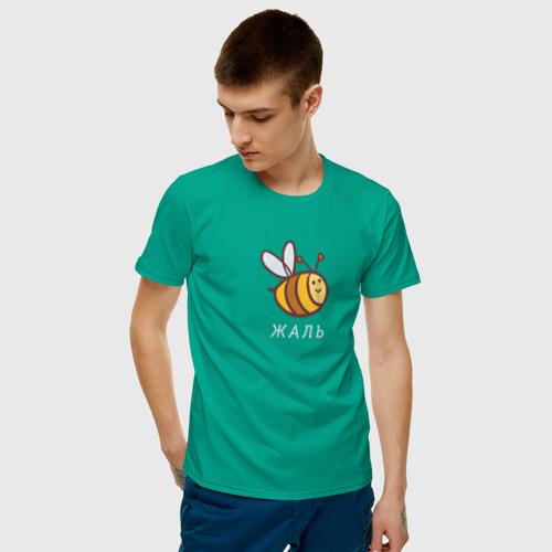 Мужская футболка хлопок Жаль Фото 01