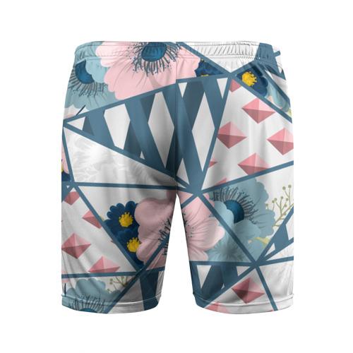 Мужские шорты 3D спортивные  Фото 02, Геометрия цветов