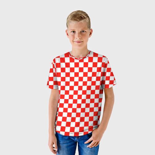 Детская футболка 3D Хорватская шашка