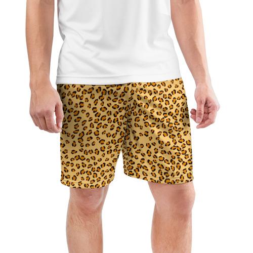Мужские шорты 3D спортивные  Фото 03, Окрас леопарда