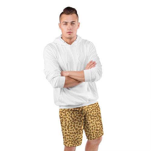 Мужские шорты 3D спортивные  Фото 05, Окрас леопарда