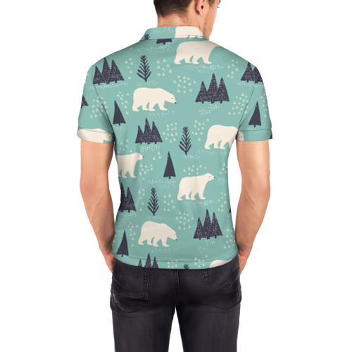 Мужская рубашка поло 3D  Фото 04, Медвежонок умка