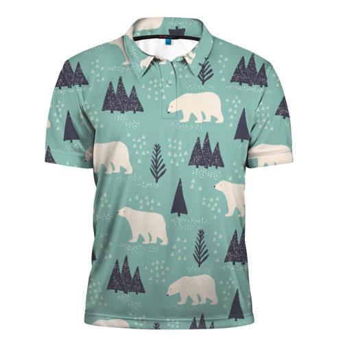 Мужская рубашка поло 3D  Фото 01, Медвежонок умка