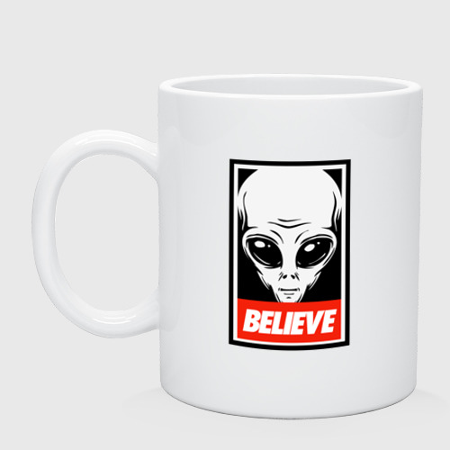 Кружка I want To Believe UFO - Obey