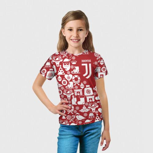 Детская футболка 3D  Фото 03, Juventus Новогодний