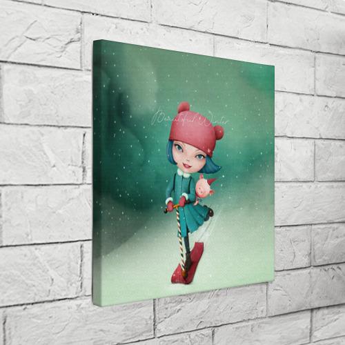 Холст квадратный  Фото 03, Beautiful Winter