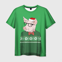 New Year Hipster Pig