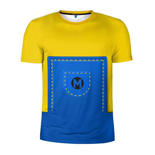 Мужская футболка 3D спортивная  Фото 01, Костюм миньона