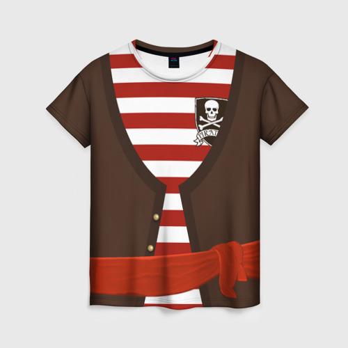 Костюм пирата в красную полоску