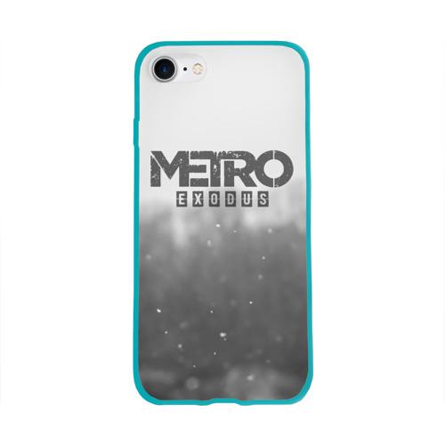 Чехол для Apple iPhone 8 силиконовый глянцевый METRO WINTER Фото 01