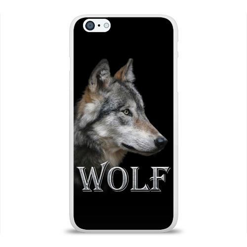 Чехол для iPhone 6/6S Plus глянцевый Wolf  Фото 01