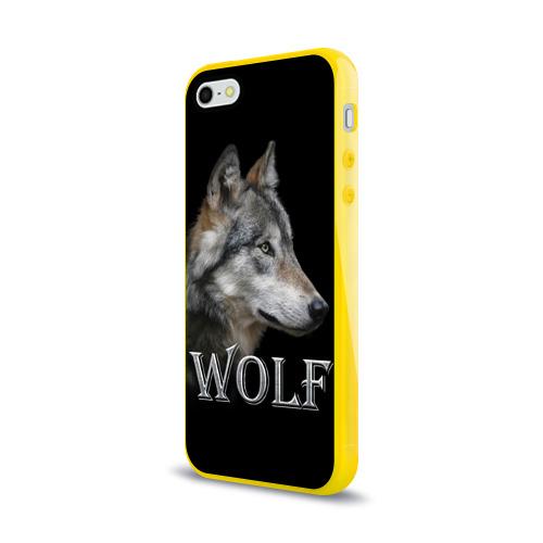 Чехол для iPhone 5/5S глянцевый Wolf  Фото 01