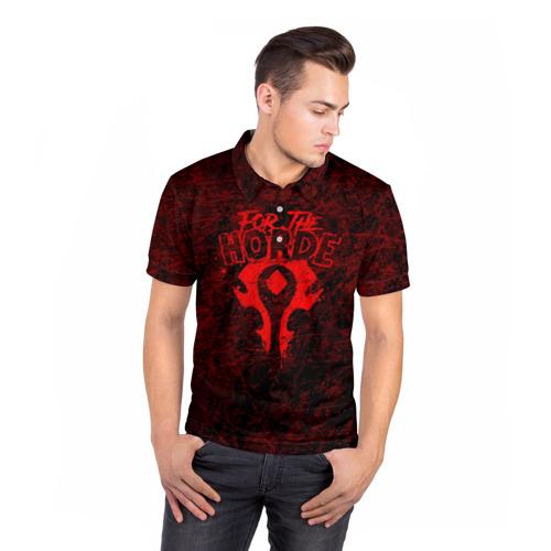 Мужская рубашка поло 3D  Фото 05, FOR THE HORDE