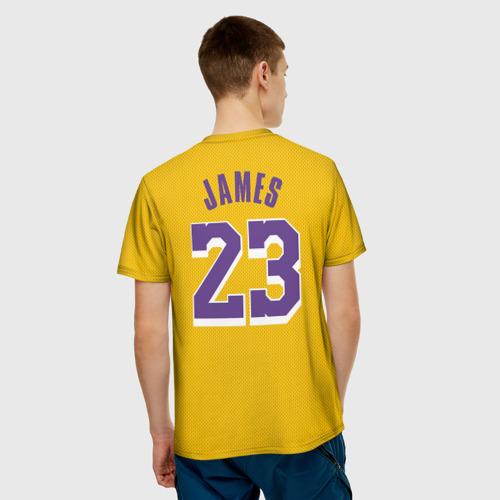 Мужская футболка 3D James 18-19 LA Lakers home Фото 01