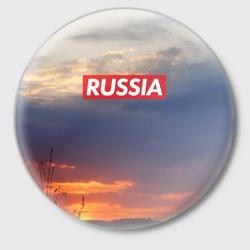 Флаг России на Закате