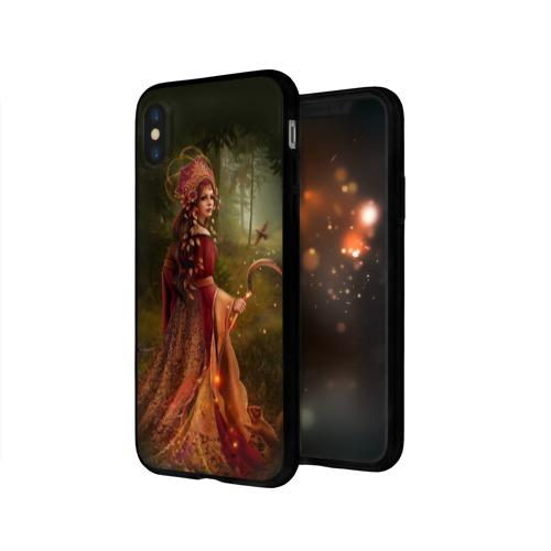 Чехол для Apple iPhone X силиконовый глянцевый  Фото 03, Морена