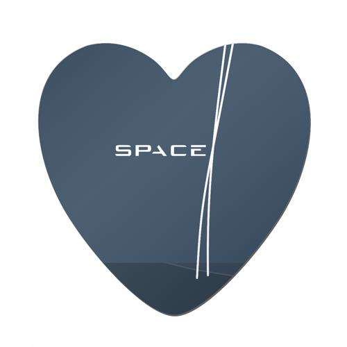 Магнит виниловый сердце  Фото 01, SPACEX