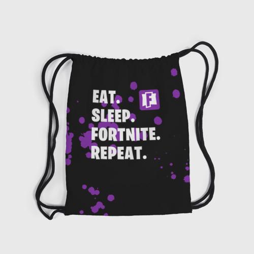 Eat Sleep Fortnite Repeat (3d рюкзак-мешок) фото 3