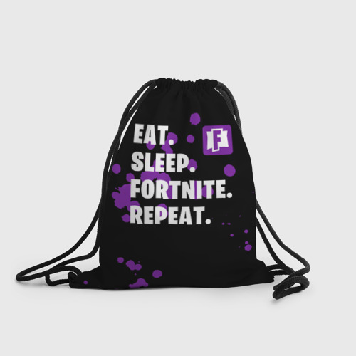 Eat Sleep Fortnite Repeat (3d рюкзак-мешок) фото 0