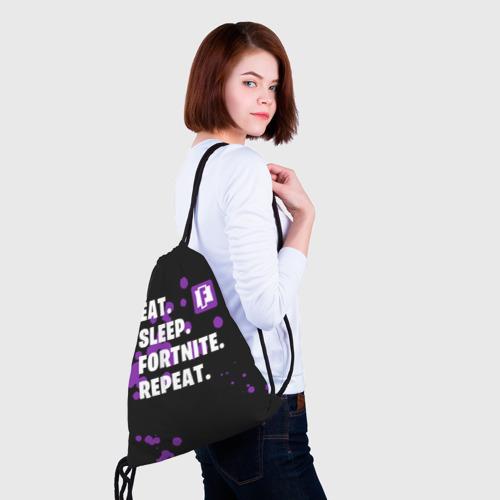 Eat Sleep Fortnite Repeat (3d рюкзак-мешок) фото 1