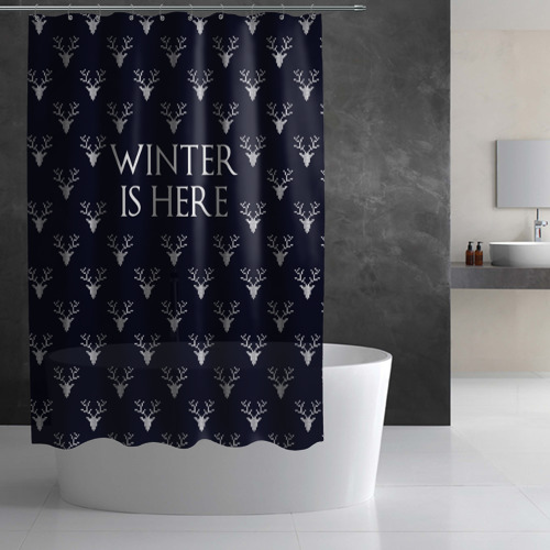 Штора 3D для ванной  Фото 02, Winter Is Here