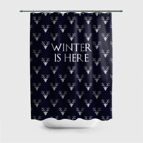 Штора 3D для ванной  Фото 01, Winter Is Here