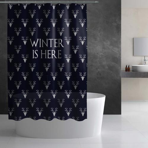 Штора 3D для ванной  Фото 03, Winter Is Here