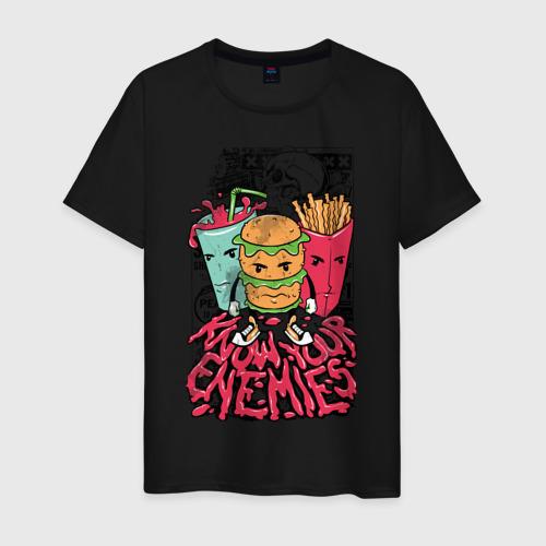 Мужская футболка хлопок Angry Food Фото 01