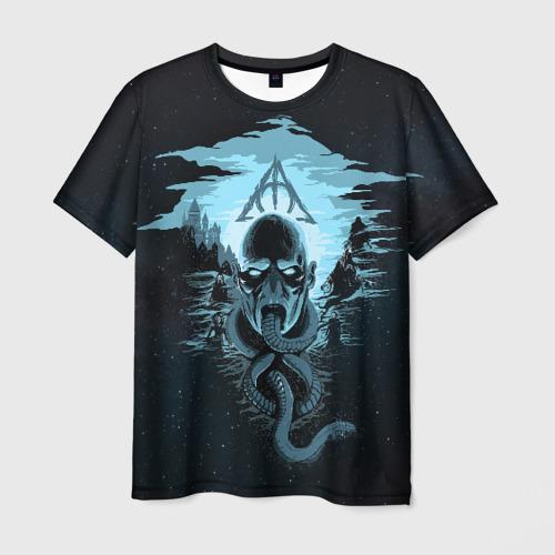 Мужская футболка 3D Гарри Поттер: Волан-де-Морт