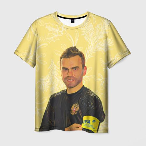 Мужская футболка 3D Акинфеев Праздничный