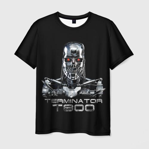 Мужская футболка 3D  Фото 03, Терминатор  Т800,