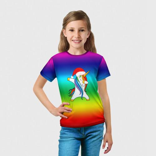 Детская футболка 3D Dab New Year  Фото 01