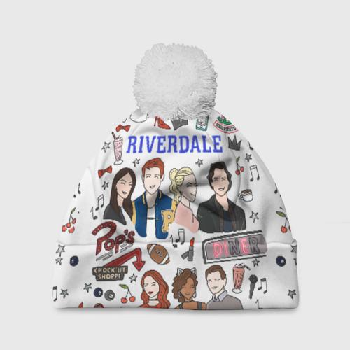 Шапка 3D c помпоном Riverdale