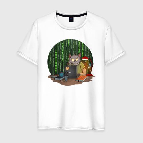 Мужская футболка хлопок IT - кот