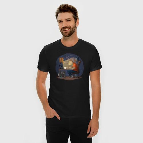 Мужская футболка премиум  Фото 03, IT - кот