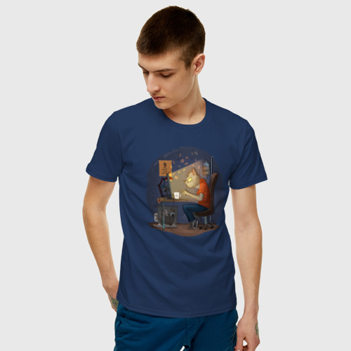 Мужская футболка хлопок IT - кот Фото 01