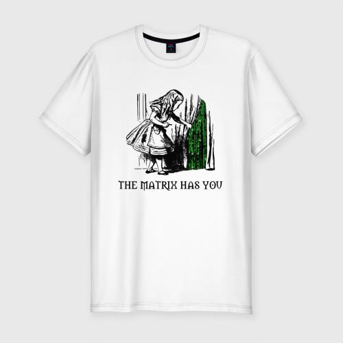 Мужская футболка премиум Matrix Alice Фото 01