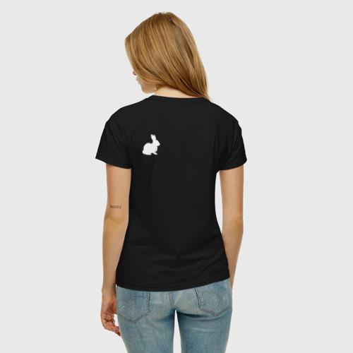 Женская футболка хлопок Follow the white rabbit... Фото 01