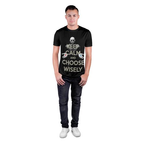 Мужская футболка 3D спортивная Keep calm and choose wisely Фото 01