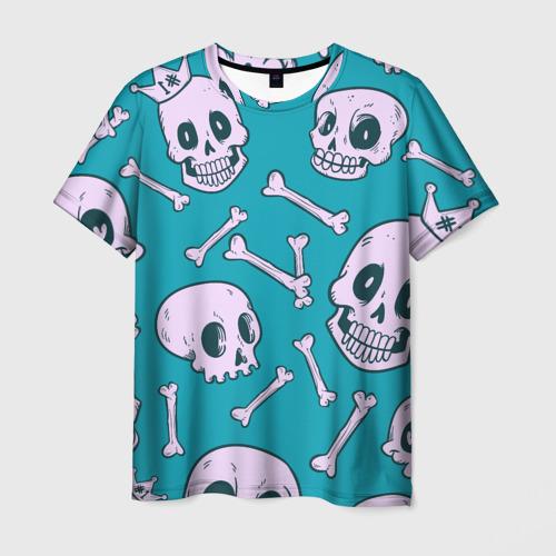 Мужская футболка 3D  Фото 03, Черепа Текстура