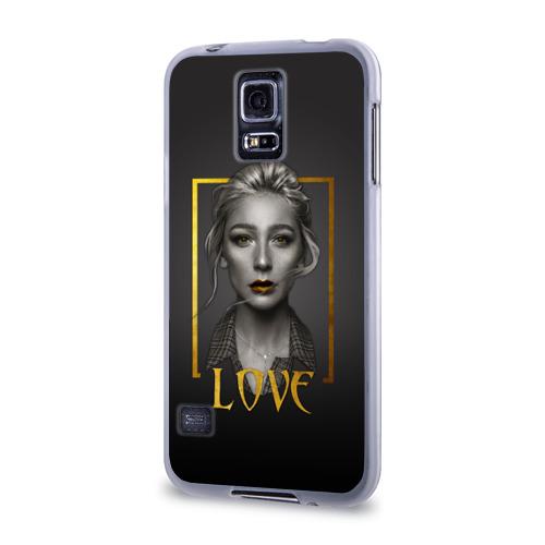 Чехол для Samsung Galaxy S5 силиконовый  Фото 03, Ivleeva gold