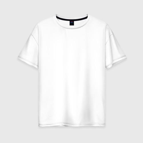 Женская футболка хлопок Oversize Баста здесь белый Фото 01