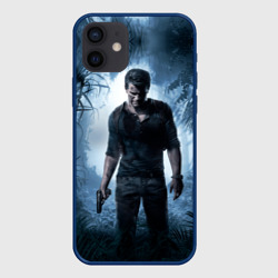 Чехол для iPhone 12 Pro Mini Uncharted 4 (лого на спине)