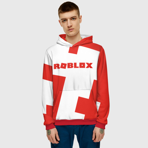 Мужская толстовка 3D  Фото 03, ROBLOX Red