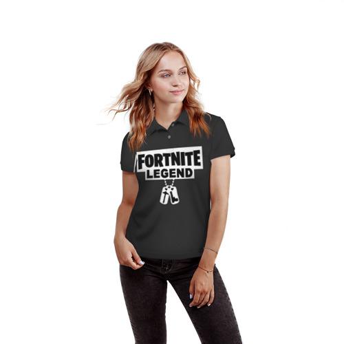 Женская рубашка поло 3D FORTNITE LEGEND Фото 01