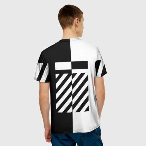 Мужская футболка 3D  Фото 02, OFF WHITE BLACK & WHITE