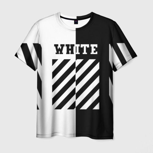 Мужская футболка 3D  Фото 03, OFF WHITE BLACK & WHITE