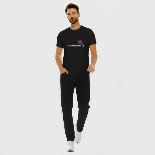Мужская футболка хлопок Slim Армения Фото 01