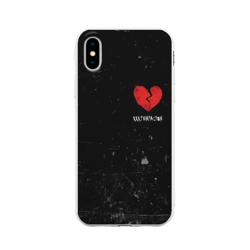 Чехол для iPhone X матовый XXXTentacion Red Broken Heart Фото 01