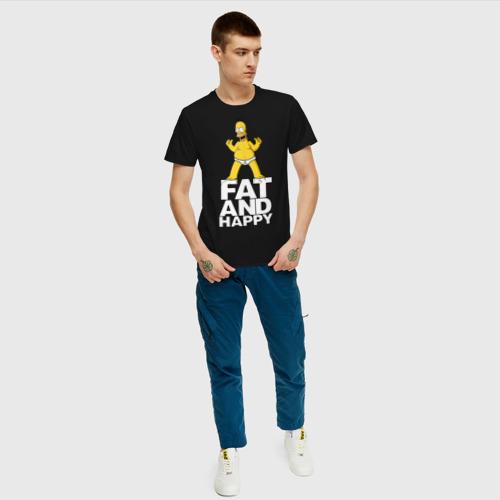 Мужская футболка хлопок  Фото 05, Толстый и счастливый. Симпсон